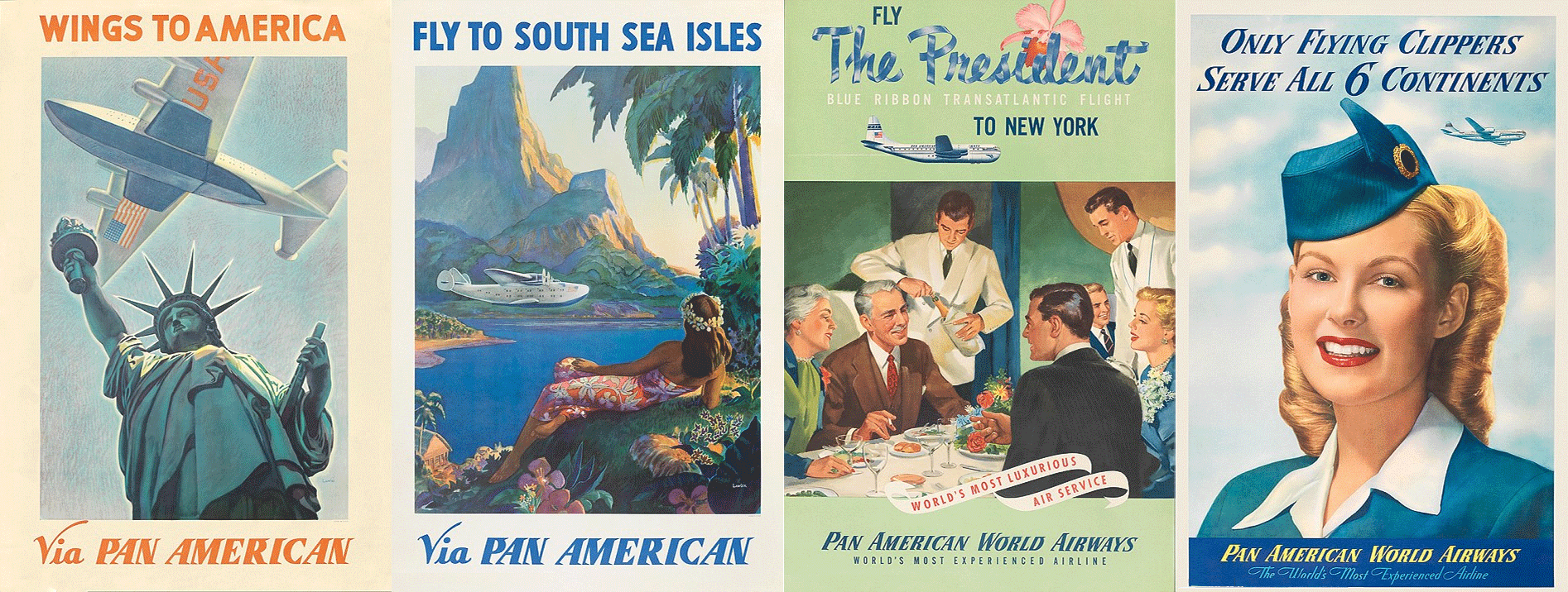 Pan American Airlines Ads