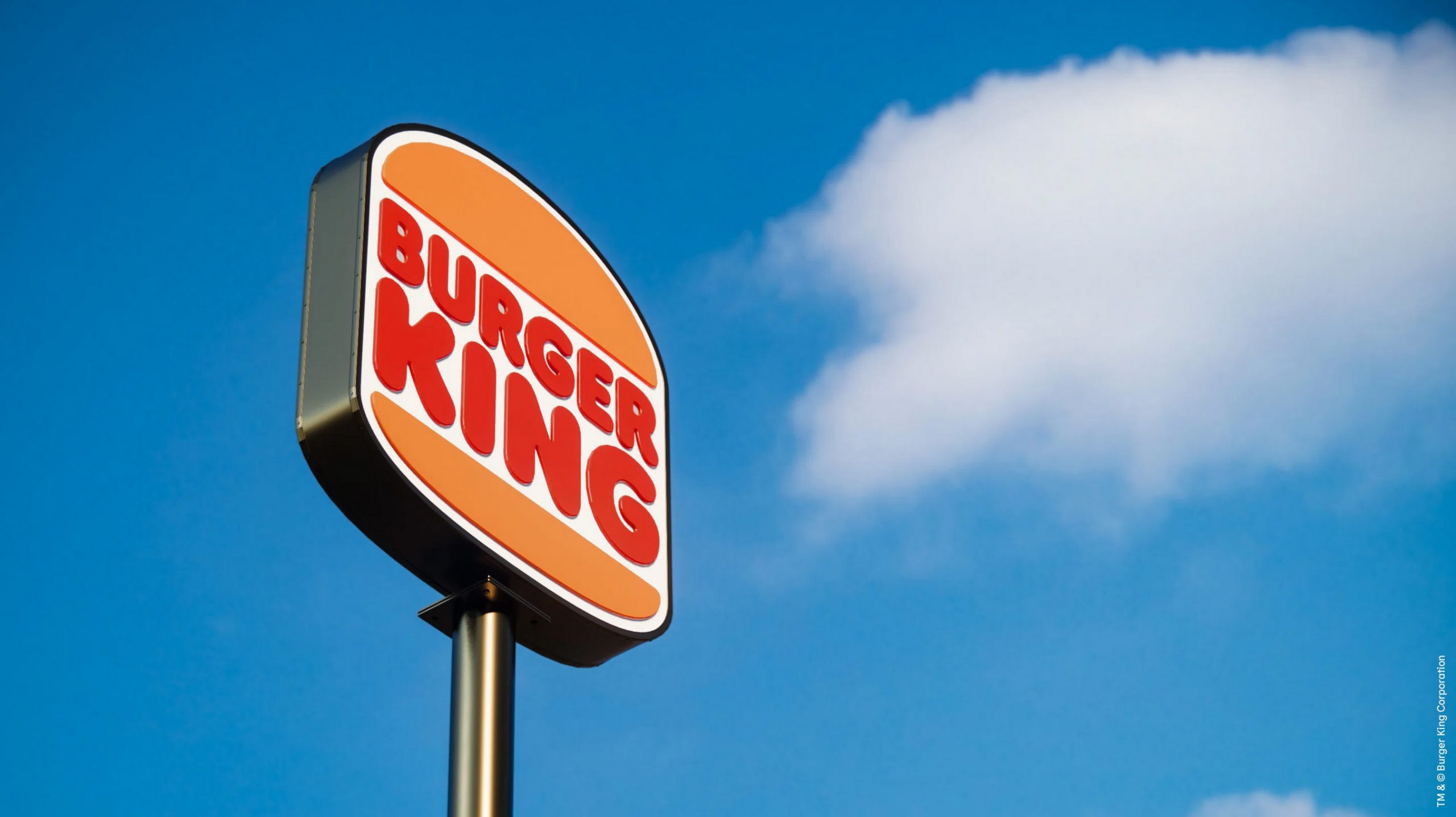 Burger King new logo and outside sign